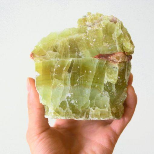 "Green Calcite Stone Specimen 740g ""Faith"" ~5.0"" | LARGE Green Calcite Cluster Raw Green Calcite Stone At Best Crystals Wholesale"