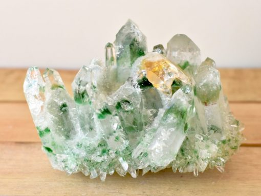 Tibetan Green Phantom Quartz Cluster Healing Crystal Properties Green Ghost Quartz Cluster With Genuine Citrine Crystal Point In Matrix Green Quartz Crystal Cluster Specimen For Sale At Best Crystals Wholesale