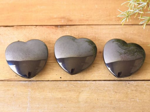 Natural Hematite Crystal Nonmagnetic Hematite Hearts Healing Crystal Reiki Stone Against Negative Energy