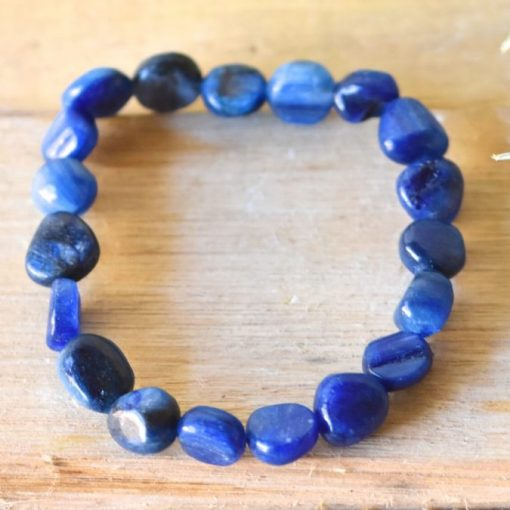 Blue Kyanite Bracelet Jewelry Gift Blue Kyanite Tumbled Stone Bead Women's Bracelet Sale Wholesale Crystals