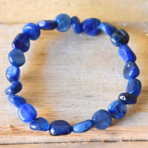 Blue Kyanite Bracelet Jewelry Gift Women's Bracelet LARGE Kyanite Crystal Healing Properties For Smooth Energy Flow
