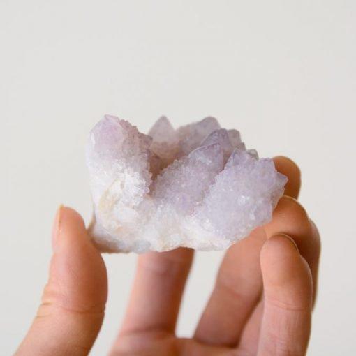 Amethyst Spirit Quartz Cluster Natural Amethyst Cactus Quartz Crystal | Fairy Quartz Specimen