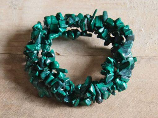 Malachite Stone Chip Bracelets Green Malachite Crystal Bracelet Sale