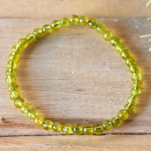 Genuine Natural Peridot Gemstone Bracelet Green Peridot August Birthstone Bracelet Mom Birthday Gift