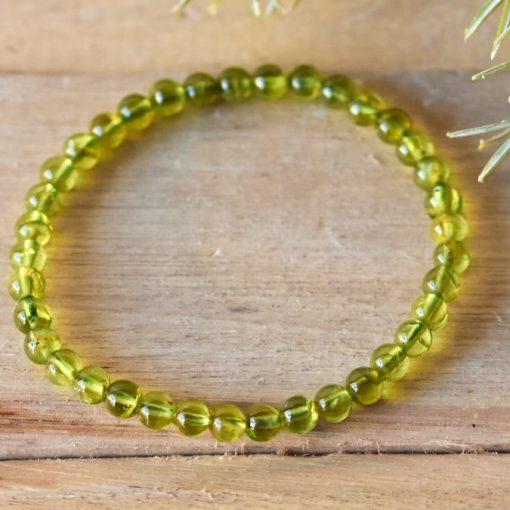 August Birthstone Natural Peridot Crystal Bracelet Gift Sale