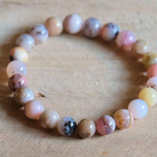 Genuine Opal Jewelry Birthday Gift Idea Peruvian Pink Opal Bracelet