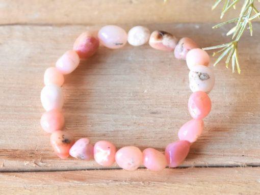 Genuine Pink Opal Stone From Peru Natural Opal Bracelet jewelry Mom Best Friend Gift