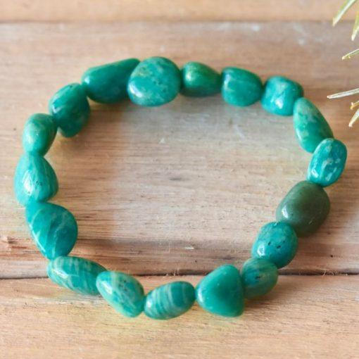 Aquarius Birthday Gift Idea Amazonite Crystal Bracelet Birthstone Best Friend Gift Idea