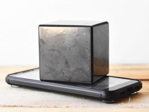 Large Shungite Cube 65mm Sale   Natural Karelian Shungite For EMF PRotection And Energy Shield