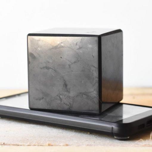 Large Shungite Cube 65mm Sale | Natural Karelian Shungite For EMF PRotection And Energy Shield