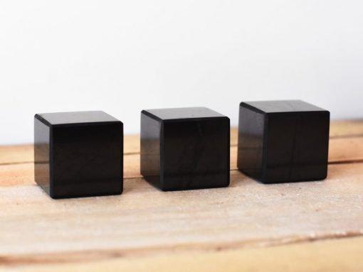 EMF Blocking Shungite Crystal Cube Sale | Russian Karelian Shungite Healing Stone For EMF Shield and Protection