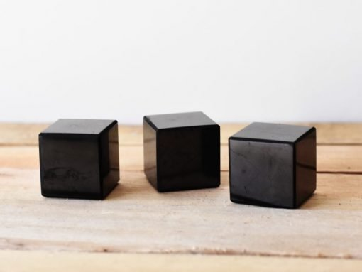 Shungite Stone Carving Cube For Sale | Russian Shungite Healing Stone For Relaxation and Protection