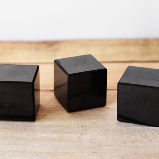 Natural Shungite Crystal Cube 60mm For Sale | Russian Shungite Healing Stone For Detox and Protection