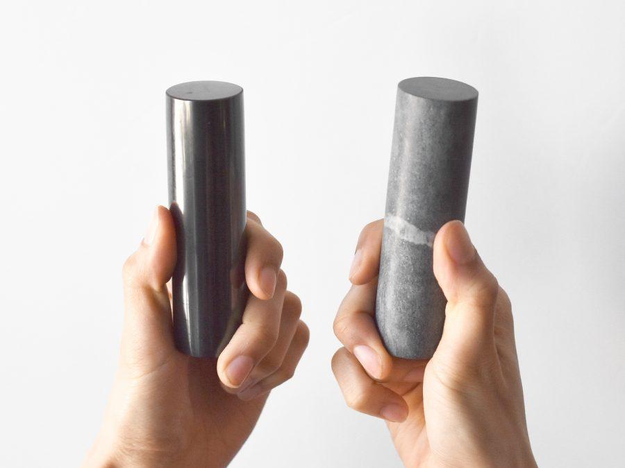 Shungite Harmonizers x2 Rods Set | 100mm Natural Shungite Cylinders Genuine Karelian High Energy Mediation Gift