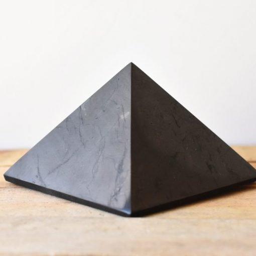Shungite Crystal Pyramid 100mm   Large Shungite Stone For Sale   EMF Negative Energy Wave Blocking   Best Crystals Wholesale