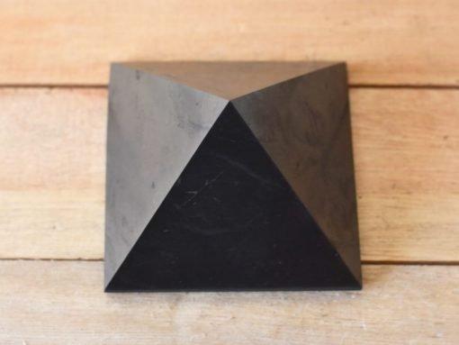 LARGE Shungite Stone Pyramid Russian Shungite Crystal For EMF Negative Energy Blocking