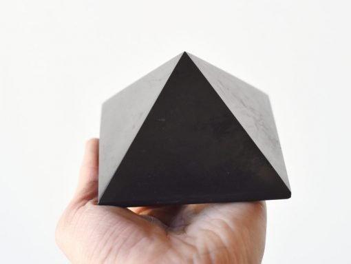 LARGE Shungite Crystal Pyramid   Natural Shungite For EMF Negative Energy Blocking