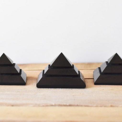 EMF Protector Shungite Pyramid Stone Carving 80mm For Sale   LARGE Shungite Sakkara Pyramid