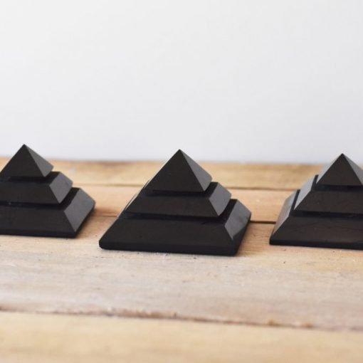 Natural Shungite Stone Pyramid Carving For Sale   Shungite Sakkara Pyramid EMF Protector