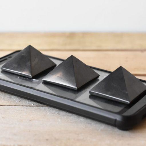 Natural Shungite Stone Benefits | Natural Shungite Crystal Pyramid EMF Blocking Negative Energy Protection
