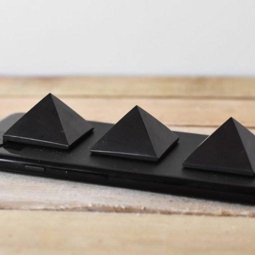 Authentic Shungite Stone | Natural Shungite Crystal Pyramid EMF Blocking Negative Energy Protection