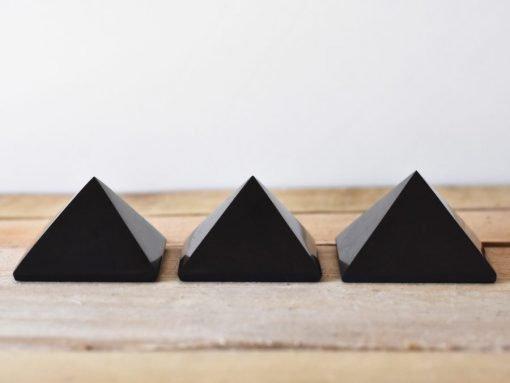Genuine Shungite Crystal Pyramid EMF Blocking Protection Stone