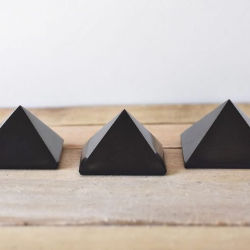 Natural Shungite Crystal Pyramid EMF Blocking Powerful Protection Stone