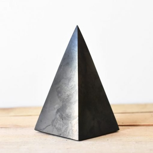 Big Shungite Pyramid | Block EMF Wave And Purify Your Surroundings With Natural Shungite Crystal